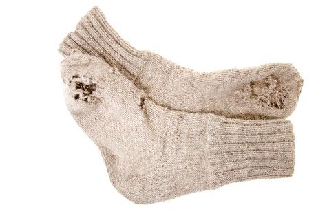 Bild: Socken mit Löchern?, Strumpf-Klaus