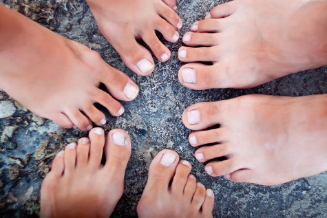 Bild: Fußform und Socken, Strumpf-Klaus