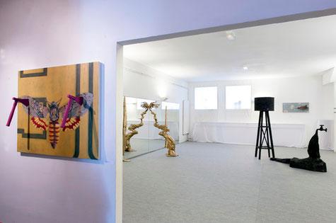 Bombyx ~ Trough ~ Réservoir - Vue générale de l'exposition au Studio Bartowski