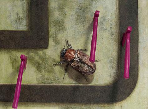 Raté! ~~ 2009/2012 - huile, toile de rénovation et résine sur bois