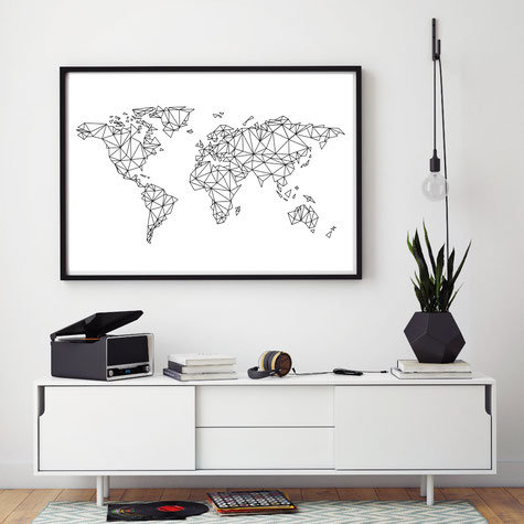 Illustration Weltkarte, World Map