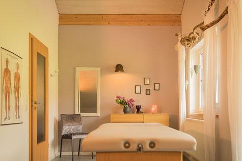 Behandlungsraum Körpertherapie Anja Fersch