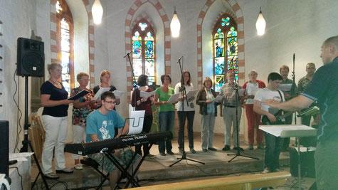 Singen im Gottesdienst am 29. Juni 2014