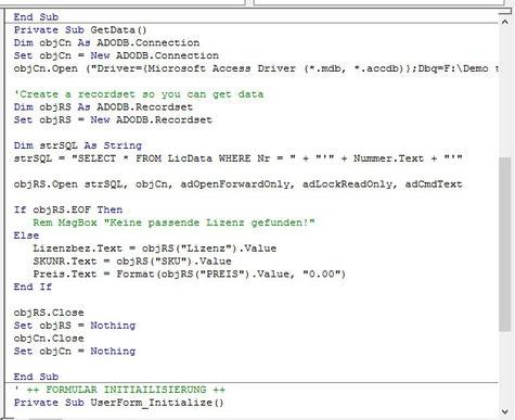 Makros und API
