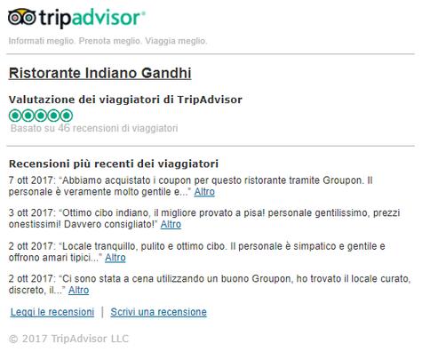 Tripadvisor Gandhi Ristorante Indiano Pisa