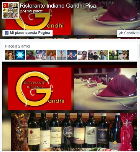 Facebook Gandhi Ristorante Indiano Pisa