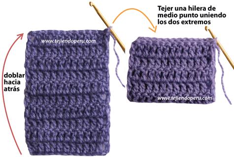 bufanda corderito crochet