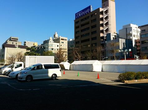 築地本願寺重要文化財指定記念行事「ごえん」準備風景