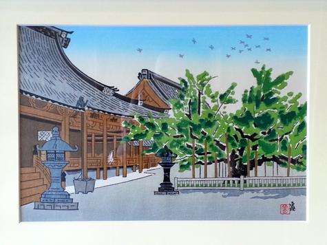 本願寺境内風景画