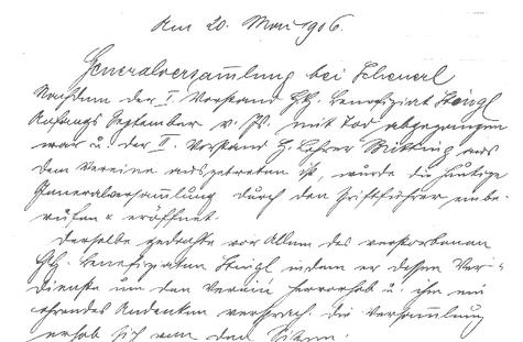 Bericht über die Generalversammlung von Mai 1906