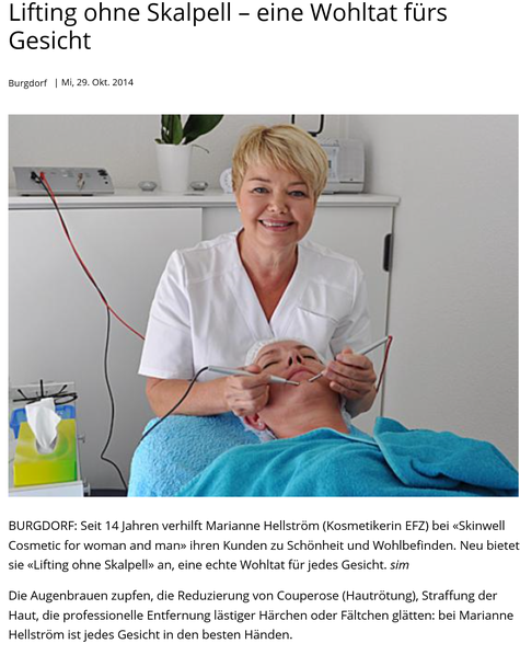 Skinwell Cosmetic Marianne Hellström Zytoenergese