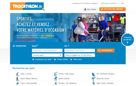 page d'accueil trocathlon