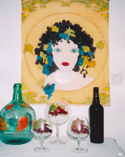 Peintures sur Soie et Verre de Joëlle Milbach