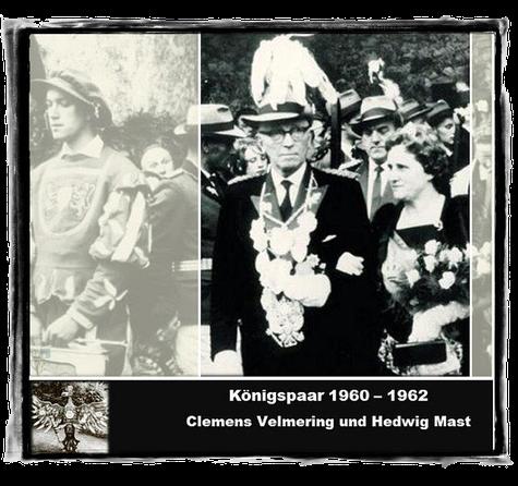 Königspaar 1960 - 1962 Clemens Velmering und Hedwig Mast