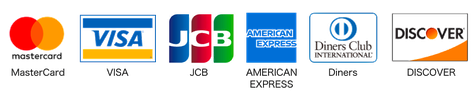 使用可能のクレジット|MasterCard/VISA/JCB/AMERICAN EXPRESS/Diners/DISCOVER|株式会社廣澤