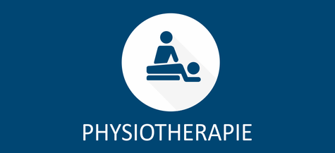Link Symbol Physiotherapie - stilisierte Darstellung liegender Patient und behandelnder Physiotherapeut