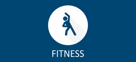 Link Symbol medizinisches Gerätetraininge Fitness - Mensch in Gymnastik Position