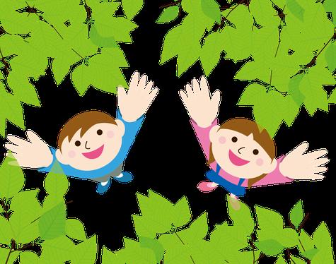 学童と自然のイメージ