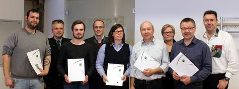 v.l. Peter Gremsl, Rainer Schebesta, Maria Bischof, Gerhard Riegler, Erwin Ehrenhöfer