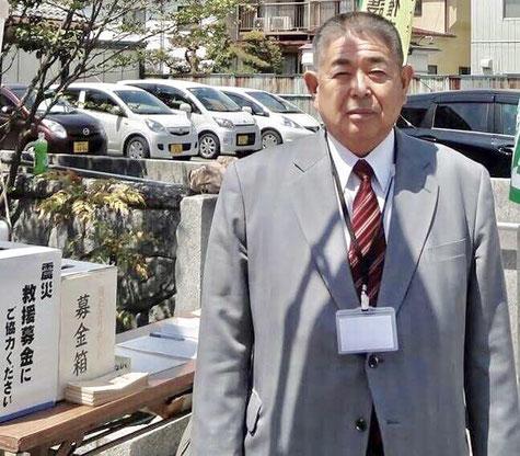 東日本大震災の救援募金活動で(上田市内)