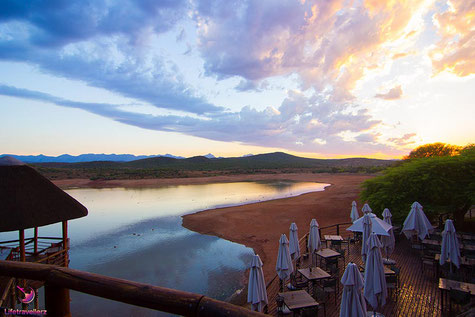Buffelsdrift Game Lodge, Oudtshoorn, bei Sonnenaufgang