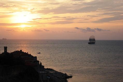 Sonnenuntergang im slowenischen Piran