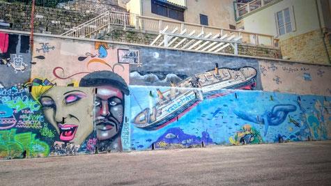Portoroz - Slowenien-Reiseblogger-Graffitti-Street Art-Hafen Piran