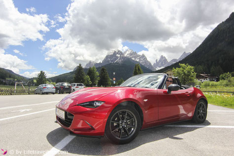 Roadtrip, Roadster, Mazda MX5, Veneto Italien, Drei Zinnen, Lifetravellerz