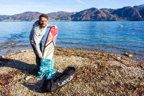 Kiteboard Boardsockke selbst gemacht