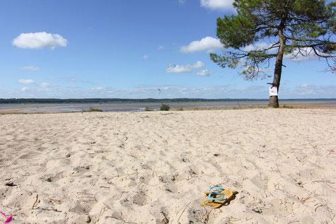 Strand am Campingplatz von Biscarosse