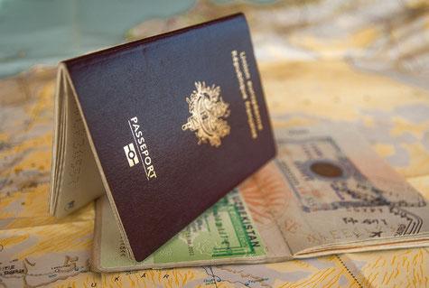 Bild Pass und Visum - Foto von Pixabay