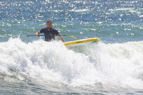 Stand Up Paddling in der Welle - Einstieg ins Wave SUPen