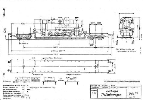 Wer einmal einen Blick auf das Grenzlast-raster des Uais 720 wirft, wird erkennen, dass der Transport der Lok 37 mit ihren knapp 50 t Leergewicht eine ziemlich knappe Num-mer war.