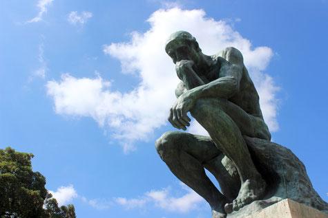 El Pensador. Augusto Rodin. Foto: Miguel Hermoso Cuesta