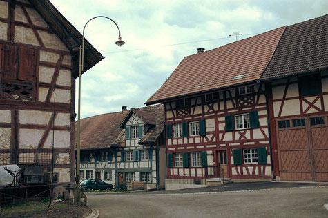 Historisches Ortsbild beim Hirschen in Oberstammheim