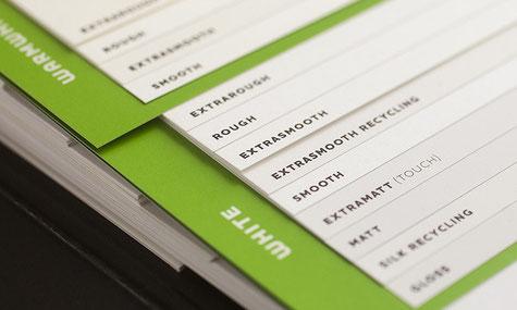 Ausschnitt Musterbuch METAPAPER.