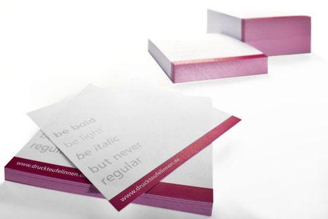 Beispiel bedruckter Zettel für die Notizzettelbox.