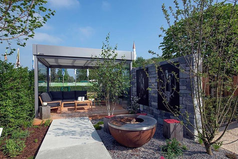 Terraform Gartengestaltung