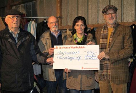 500 Euro für die kulturelle Flüchtlingsarbeit