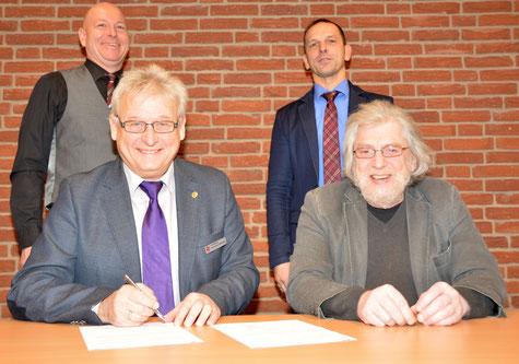 Unterzeichnung Kooperationvertrag mit Caritas