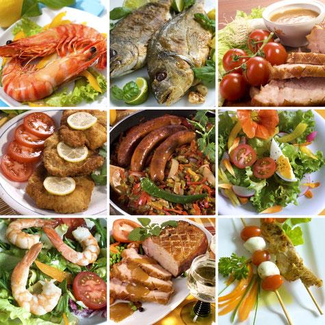 Leckere Fleisch-, Fisch- oder Geflügeldelikatessen. Täglich frisch eingekauft