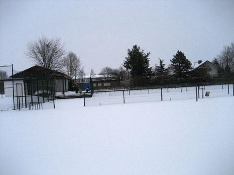 Ein winterlicher Ausblick von Platz 4.