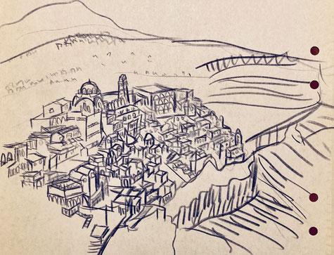 1999年9月 ギリシャ・サントリーニ島にて