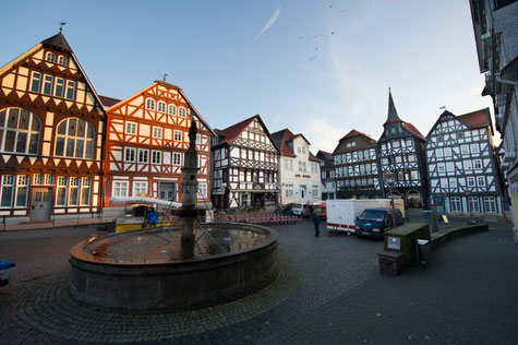 Fachwerkhäuser auf dem Marktplatz von Fritzlar
