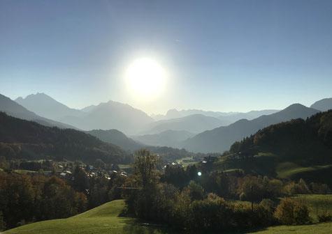 Traumhafter Ausblick auf das Berchtesgadener Land