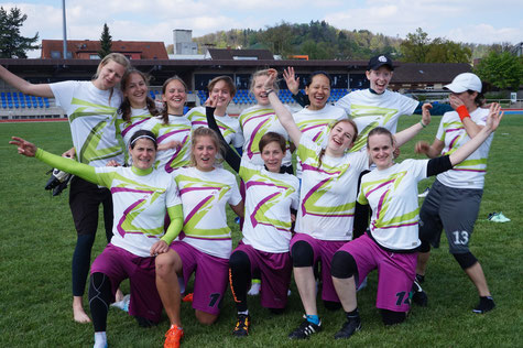 ZUF Zurich ultimate fliers at Skybowl in Winterthur