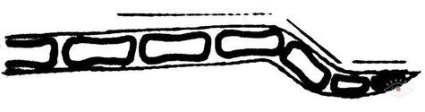 Схема излома хвоста