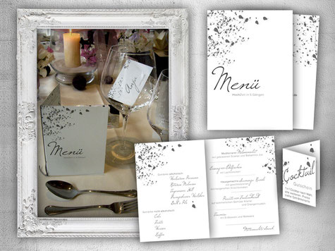 Hochzeit Menükarte Platzkarte Coupon