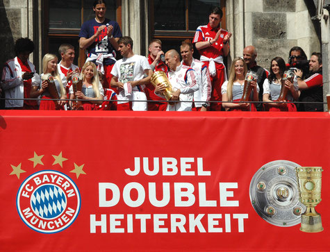 Nur auf Platz 3 der Tabelle, der FC Bayern. Bild: ©Harald Bischoff