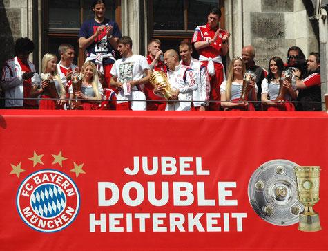 Nur auf Platz 2 der Tabelle, der FC Bayern. Bild: ©Harald Bischoff